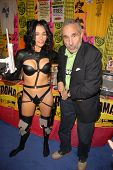 Alicia Arden as Aeon Flux and Lloyd Kaufman at San Diego Comic Con, San Diego Convention Center, San