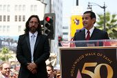 Marco Antonio Solis with Antonio Villaraigosa at the induction ceremony for Marco Antonio Solis into the Hollywood Walk of Fame, Hollywood, CA. 08-05-10