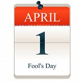 image of fools  - Vector Calendar of Fools day 1st April - JPG