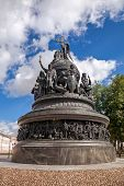 Bronze Monument For Millennium Of Russia In The Novgorod Kremlin, Russia. The Monument Was Unveiled