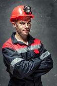 Portrait Of Coal Miner