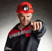 Coal Miner Pointing Forward