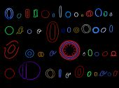 neon letter O collection