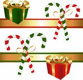 Christmas - Candy Canes & Ribbons