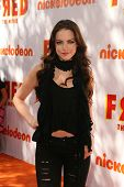 Elizabeth Gillies at the premiere of