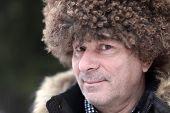 Man In Brown Caucasian Hat
