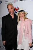 Britt Ekland and son at the Official Launch of BritWeek, Private Location, Los Angeles, CA 04-24-12