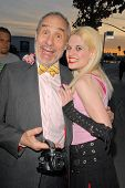 Lloyd Kaufman and Satara Silver at the 35th Troma Anniversary Event, New Beverly Cinema, Los Angeles