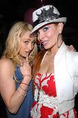 Jennifer Blanc-Biehn and Phoebe Price  at Jennifer Blanc-Biehn's Birthday Party, Sardos, Burbank, CA
