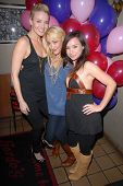 Brianne Davis, Jennifer Blanc-Biehn and Danielle Harris  at Jennifer Blanc-Biehn's Birthday Party, S