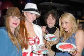 Jenise Blanc, Phoebe Price, Flora Price and Jennifer Blanc-Biehn at Jennifer Blanc-Biehn's Birthday