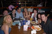 Jennifer Blanc-Biehn and friends at Jennifer Blanc-Biehn's Birthday Party, Sardos, Burbank, CA. 04-2