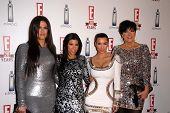 Khloe Kardashian, Kourtney Kardashian, Kimberly Kardashian and Chris Kardashian at E!'s 20th Birthda