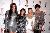 Khloe Kardashian, Kourtney Kardashian, Kimberly Kardashian and Chris Kardashian at E!'s 20th Birthday Bash Celebrating Two Decades of Pop Culture, The London, West Hollywood, CA. 05-24-10