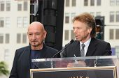 Sir Ben Kingsley, Jerry Bruckheimer at the induction ceremony for Sir Ben Kingsley into the Hollywood Walk of Fame< Hollywood, CA. 05-27-10