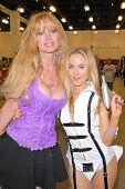 Laurene Landon and Paula Labaredas at the Pasadena Rock'n Comic Con Day 2, Pasadena Convention Center, Pasadena, CA. 05-29-10