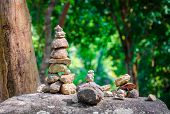 Stacked Stones In Balanced Pile