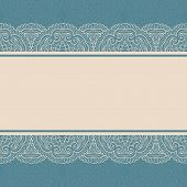 foto of frilly  - Vintage lace border on seamless background - JPG