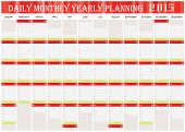 Daily Monthly Yearly Planning Chart Year 2015