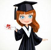 Diploma Graduating Student Girl