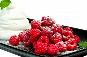 Raspberries With Whipped Cream