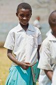 Kenya. Mombasa. January 25, 2012 African students. School.