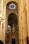 PARIS,FRANCE NOV 06:Saint-Etienne-du-Mont church, located on the Montagne Sainte-Genevieve, near the