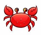 Cartoon Red Crab