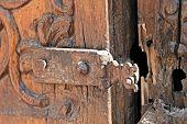 Wooden Door - Santa Catalina Convent, Arequipa, Peru