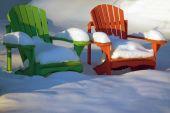 Adirondack Chairs in Winter