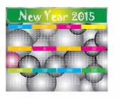 New Year 2015 Two Tone Ball Calendar