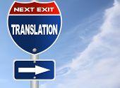 Translation road sign