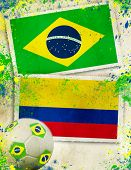 Brazil vs Columbia ball concept