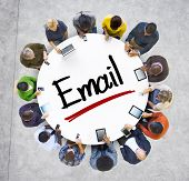 Multiethnic Group of Business People with Email Concept