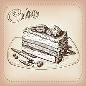 cake vector hand drawn