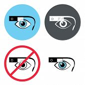 Google glasses icon set
