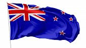 Flag Of New Zealand On Flagpole