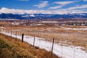 Front Range Of Colorado Rockies In Winter