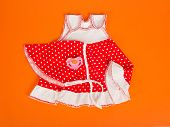 Children's dress, kerchief and pacifier