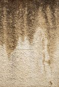 old stucco texture with dirty streaks
