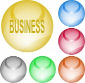 Business. Interface element. Raster illustration.