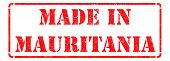Made in Mauritania on Red Rubber Stamp.