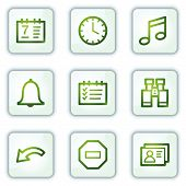 Organizer web icons, white square buttons series