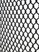 picture of chain link fence  - Close up of a chain link fence on white background - JPG