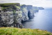 picture of cliffs moher  - An image of the Cliffs of Moher in Ireland - JPG