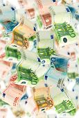Many Euro Notes Fluttering