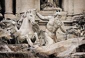 Fragment Of Trevi Fountain (fontana Di Trevi)