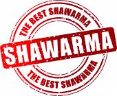 pic of shawarma  - Vector illustration of shawarma red stamp concept - JPG