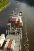 Beldorf - Container Vessel At Kiel Canal