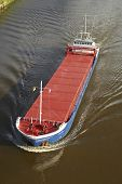 Beldorf - Freighter At Kiel Canal In An Aerial View